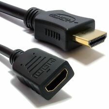 1m HDMI 1.4 High Speed 3D TV EXTENSION Lead Male to Female Cable [005848]