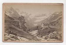 PHOTO ANCIENNE CARTE CABINET - Vue du CIRQUE DE GAVARNIE - Avant 1900