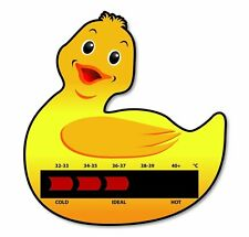 Duck Baby Bath Thermometer Card With New Moving Line Technology