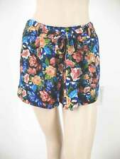 Aqua Brand Philip Floral Shorts Self-Tie Belt Black Multi Floral XS 7379A BMV