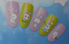 Happy Bunny Design Nail Art Water Decals Sticker For Natural/False Nails