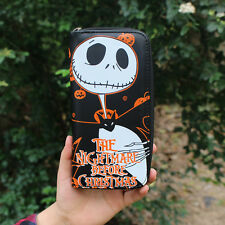 The Nightmare Before Christmas Jack Skellington Long PU Leather Zip Wallet Purse
