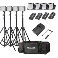 Neewer 4 Studio Light Kit (Dimmable Led Light + Softbox + 190cm Light Stand)