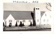 Ogallala Nebraska St Pauls Lutheran Church Real Photo Antique Postcard K15658