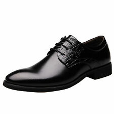 Men Business Dress Formal pointed toe casual Shoes Flat Oxfords Loafers Lace up-