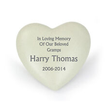 PERSONALISED HEART MEMORIAL, LOSS OF LOVED ONE - GRAVE ORNAMENT