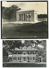 SET OF 2 PHOTOS, BENEDICT MEMORIAL TEMPLE OF MUSIC PROVIDENCE, RI + LARGE HOUSE