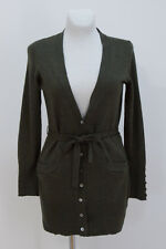 WOMENS SARAN SPENCER CARDIGAN JACKET 100 % MERINO WOOL GREEN SIZE M MEDIUM EXC