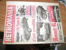 / Retromania n°10 Jaguar Type E Lancia Gamma Coupé 4 L Aventure Panhard