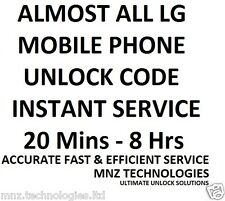 All LG Unlock Code Optimus L3 E400 E400f E610 E612 L5 Google Nexus 4 G E970 E971
