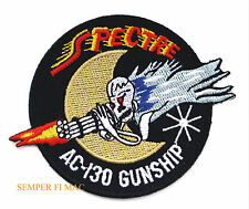 AC-130 SPECTRE PATCH GUNSHIP US AIR FORCE AC130 SKULL MOON AFB PIN UP GIFT WOW