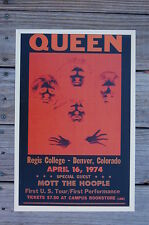 Queen Tour Poster 1974 Denver Colorado Regis College