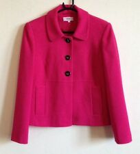Hot Pink 1960's Style Suit Jacket Jackie Kennedy Very Good Condition UK 12
