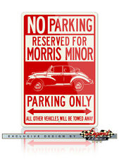 Morris Minor Tourer Convertible Reserved Parking Only 12x18 Aluminum Sign