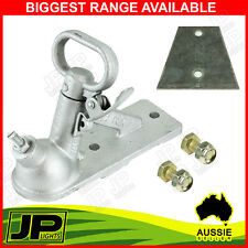 """TRAILER KIT - COUPLING 2 HOLE GALV, 2 HOLE PLATE, BOLTS 1.5"""" HIGH TENSILE"""