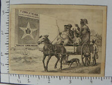 """DOMESTIC SEWING MACHINE BLACK FAMILY HORSE DRAWN WAGON """"THE STAR THAT LEADS 1433"""