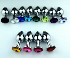 Plug Metal  Crystal Stainless  Steel Random Colors Size Small