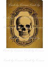 Vintage inspired Halloween skull tea bag envelope party favor set 6