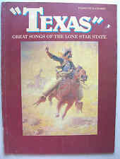 TEXAS: 24 GREAT SONGS OF THE LONE STAR STATE PVG all listed 1985 Columbia Miami