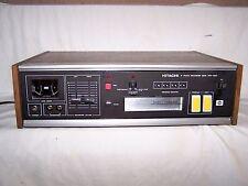 Vtg. HITACHI 8 Track Recorder Deck Player TRQ-1340 Wood Casing Lights-Up JAPAN