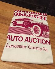 Vintage 70s DUTCHLAND COLLECTOR AUTO AUCTION White 50/50% Thin T Shirt. Size L