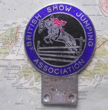 c1960 Old Vintage Car Mascot Badge for British Show Jumping Association by Gaunt