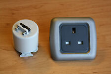 Campervan Single 240v socket - CBE 3 pin socket, Motorhome 240v socket -Graphite