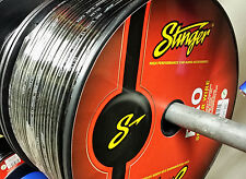 50' Stinger 12 Gauge AWG Black Speaker Wire Flexible High Strand Count SPW512BK