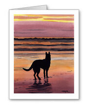 GERMAN SHEPHERD SUNSET Set of 10 Note Cards With Envelopes