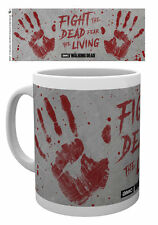WALKING DEAD HAND PRINTS FIGHT THE DEAD  MUG NEW GIFT BOXED 100% OFFICIAL MERCH