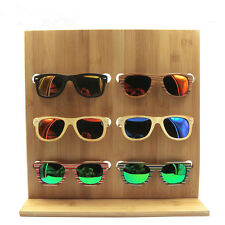 2016 NEW 6 PAIR NATURAL WOODEN SUNGLASS DISPLAY RACK wood sunglasses holder