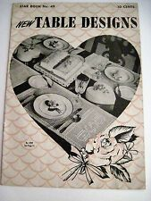 Vintage Crocheting Booklet w/ Patterns for Table Placements and Tableclothes *