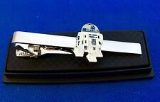 R2 D2 STAR WARS EMPIRE JEDI TIE CLIP CLASP BAR NECKTIES TIES EMBLEM LOGO CHARM