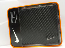 NIKE GOLF BILLFOLD Wallet Men's  Carbon Fiber Black Leather S16884001 $45 NEW