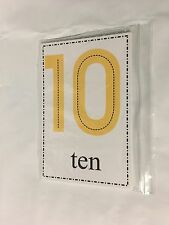0-10 Counting And Number Word Cards - 22 Large Cards - Math