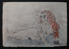 EGON  SCHIELE     DRAWING ON ORIGINAL PAPER OF THE 900s