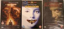 HANNIBAL LECTOR TRILGOY Red Dragon*Silence Of The Lambs*Hannibal Horror DVD *EXC