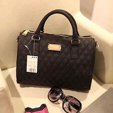 Leather Handbag Shoulder Purse Tote Women Satchel Messenger Crossbody Bag Black