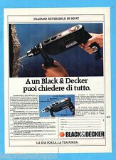 QUATTROR987-PUBBLICITA'/ADVERTISING-1987- BLACK & DECKER TRAPANO SR 910 RT