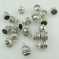 18314 50PCS Mini Antique Beads Cap Jewelry 11mm Bail FOR Tassels End Pendant