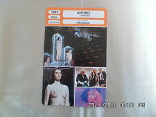 CARTE FICHE CINEMA 1984 LIFEFORCE Steve Railsback Peter Firth Frank Finlay M.MAY