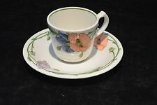 Villeroy & Boch 1748 Amapola Coffe Tea Cup & Saucer Floral Embossed $17.95 each