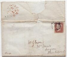 * 1842 M/S VALENTINE POEM LETTER TO GLEESON KNUTSFORD IMPERF STAMP MALTESE CROSS
