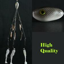 Alabama/Umbrella  Rig  (Bladed Bait Ball) 3 Wire 6 Blades! High Quality
