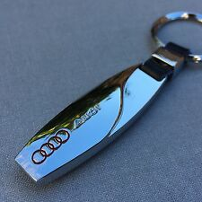 NEW AUDI CHROME METAL KEYCHAIN LOGO KEY-CHAIN Key Ring