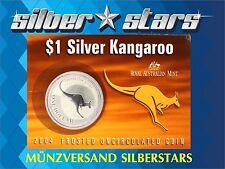 1 AU DOLLAR Silber Känguru  Kangaroo 2004 1 OZ Silver BLISTER