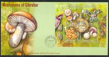 Gibraltar 2003 Fungi/Mushrooms/Nature 4v m/s FDC s6372