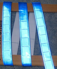 Blue gloss sew on REFLECTIVE TAPE PVC 3'x1""