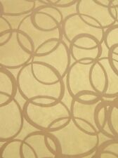 Quality contemporary fabric gold faux silk with embossed soft brown velvet hoops