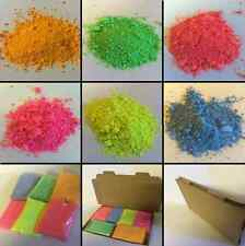 6 X 250GM Fluorescent Powder Paint Refill / RED-PINK-YELLOW-BLUE-GREEN-ORANGE
